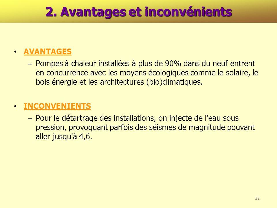 2. Avantages et inconvénients