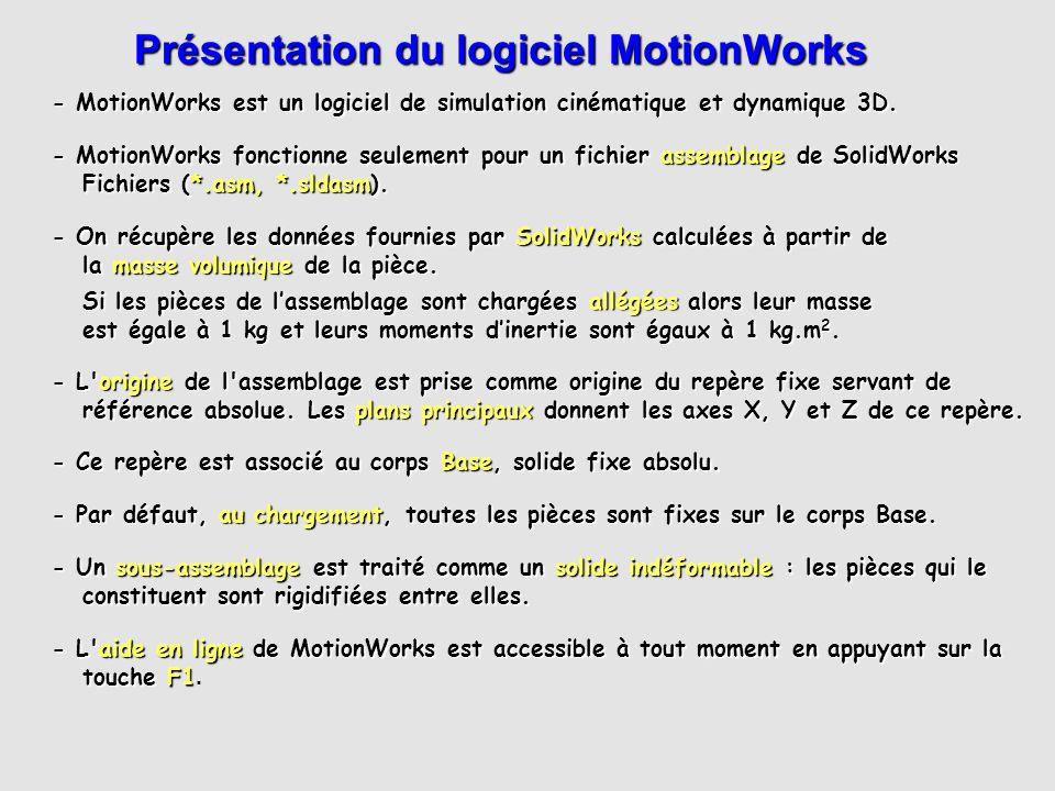 Présentation du logiciel MotionWorks