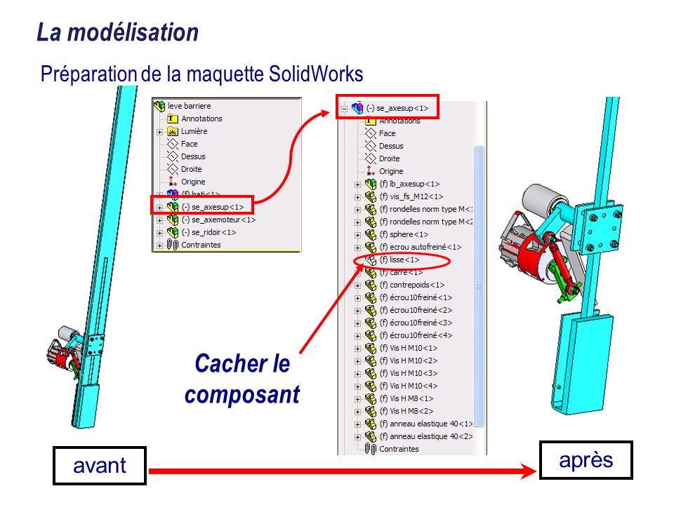 Préparation de la maquette SolidWorks