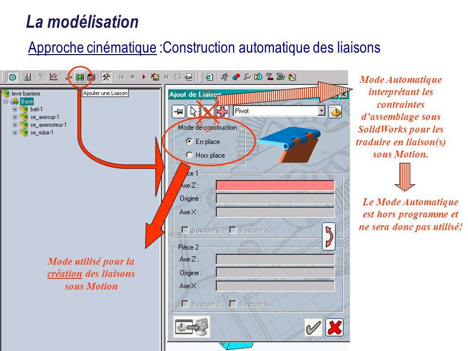 Approche cinématique :Construction automatique des liaisons