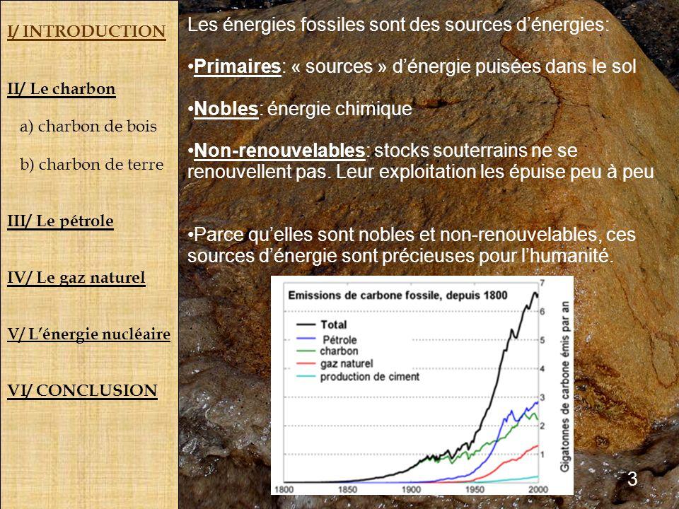 Les énergies fossiles sont des sources d'énergies: