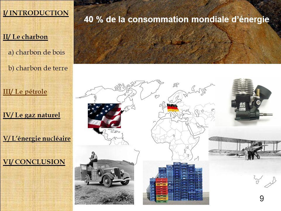 40 % de la consommation mondiale d'énergie