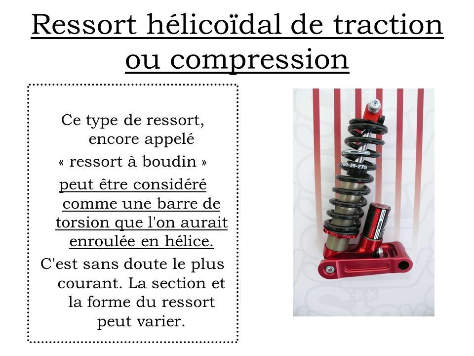 Ressort hélicoïdal de traction ou compression