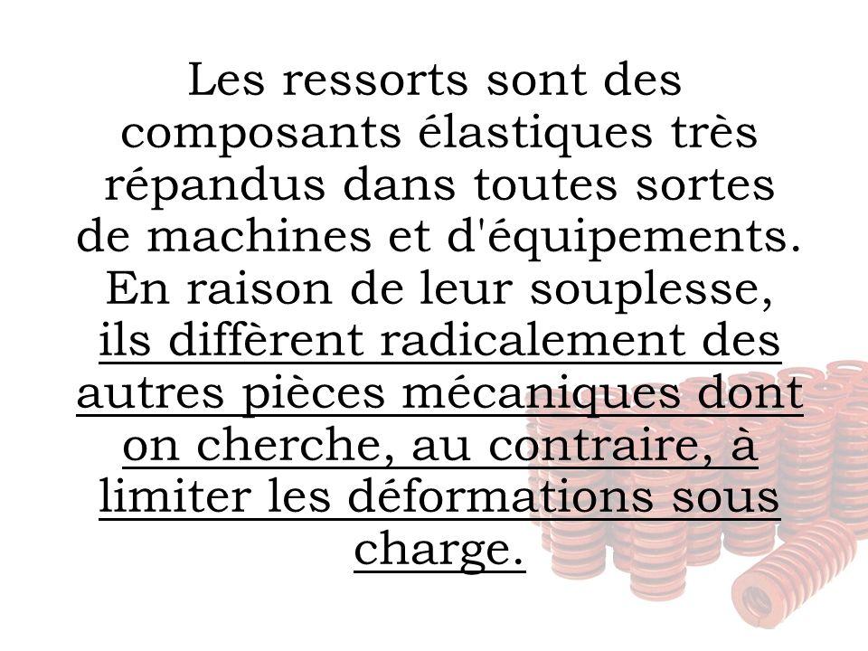 Les ressorts sont des composants élastiques très répandus dans toutes sortes de machines et d équipements.