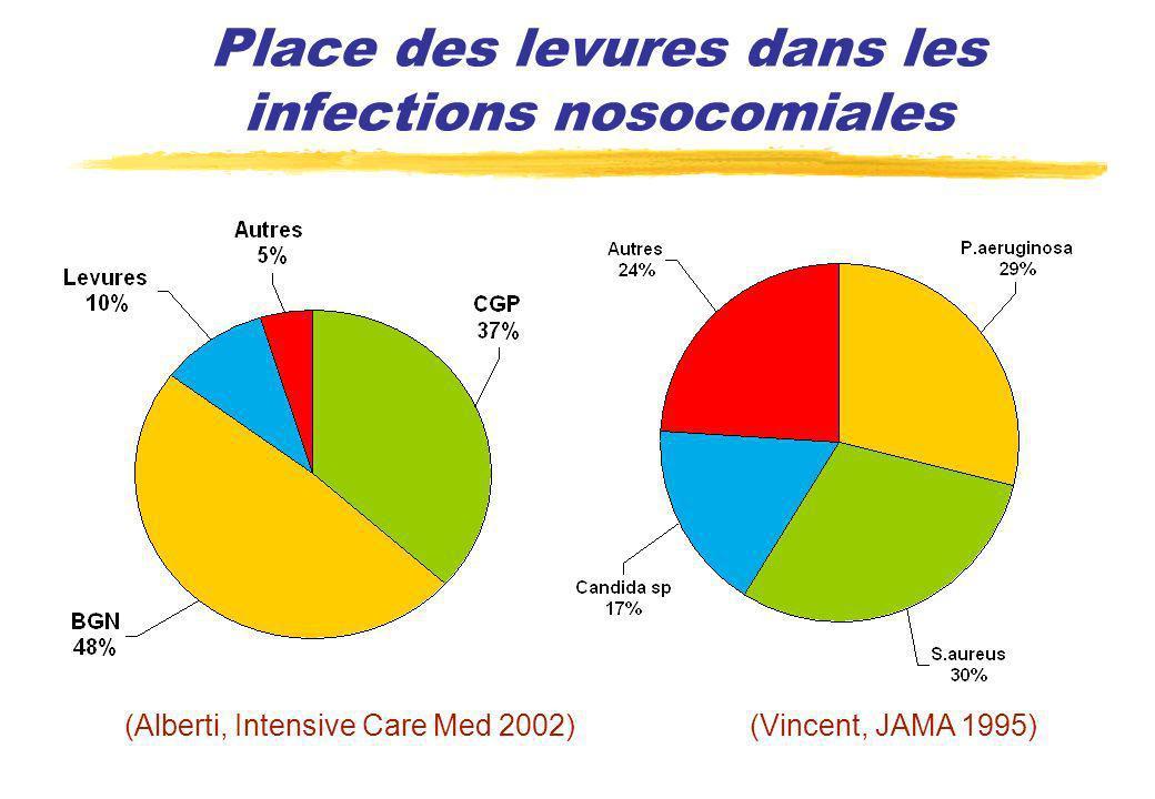 Place des levures dans les infections nosocomiales