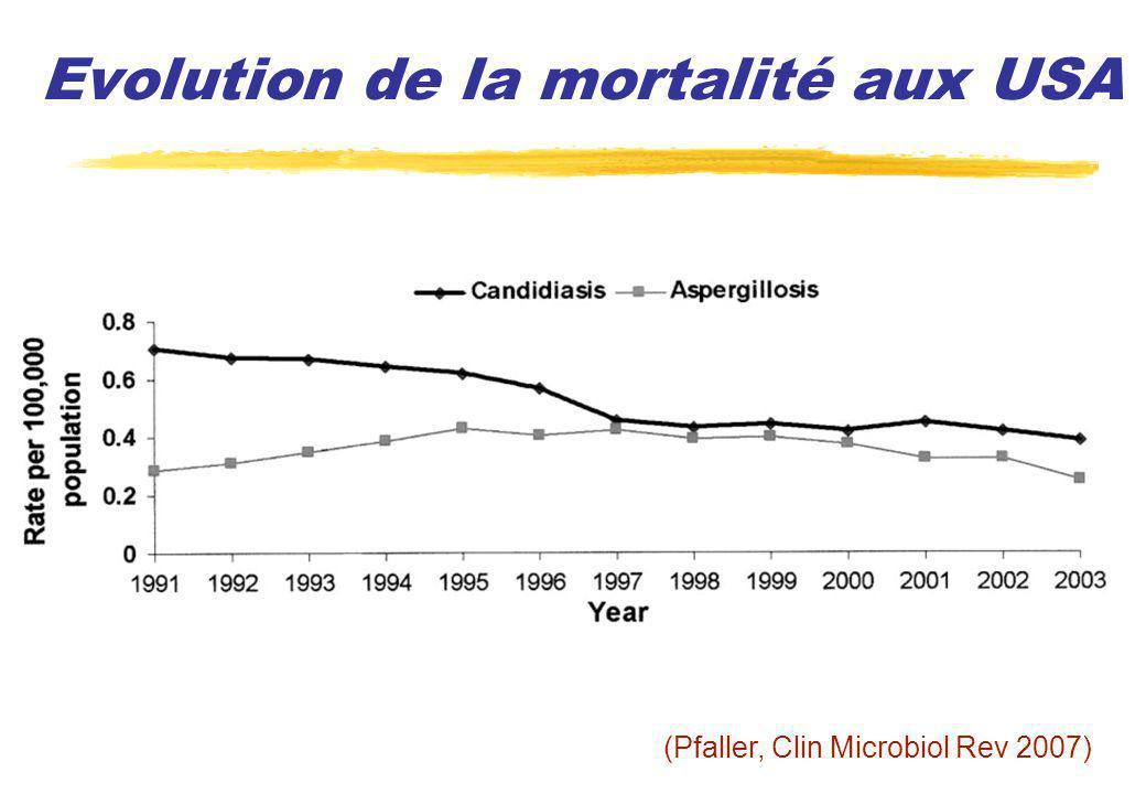 Evolution de la mortalité aux USA