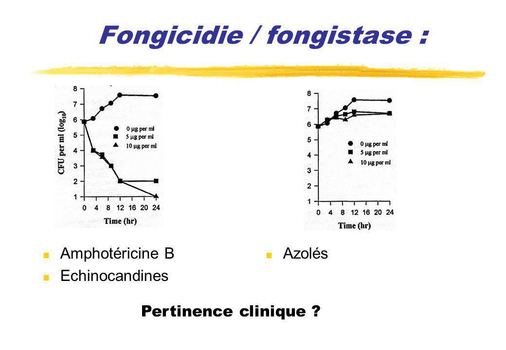 Fongicidie / fongistase :
