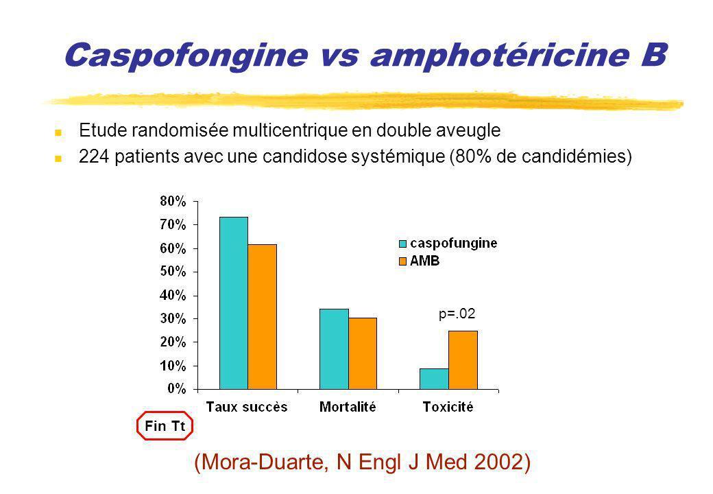 Caspofongine vs amphotéricine B