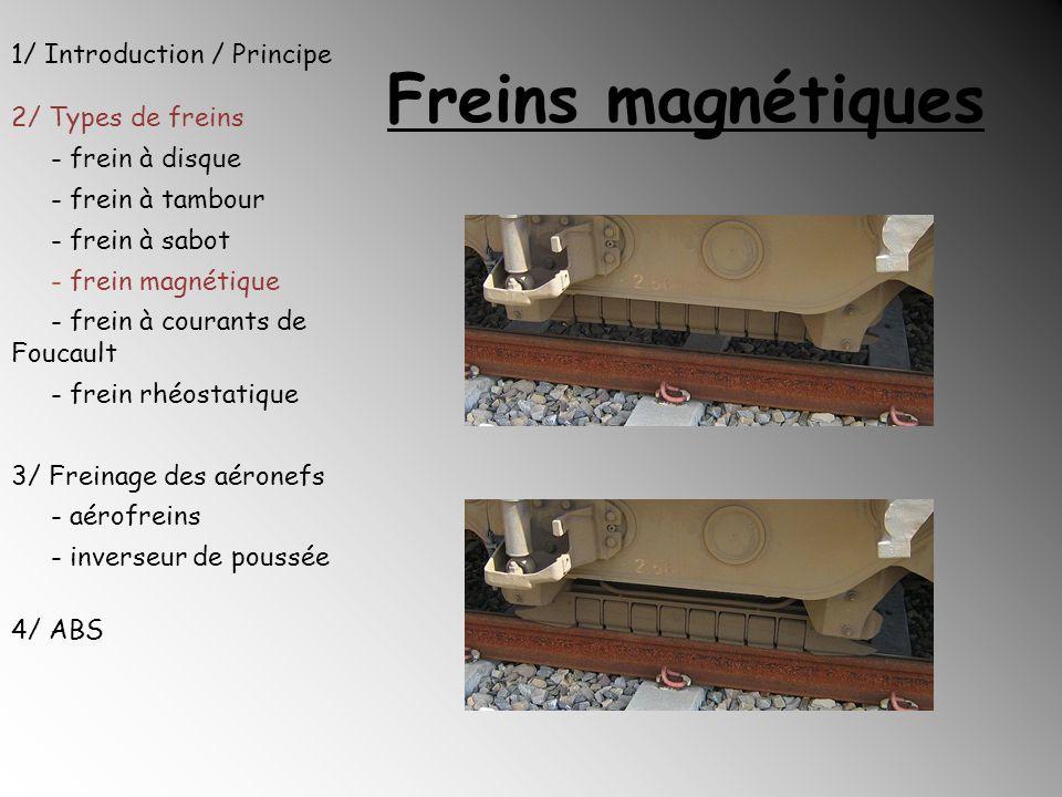 Freins magnétiques 1/ Introduction / Principe 2/ Types de freins