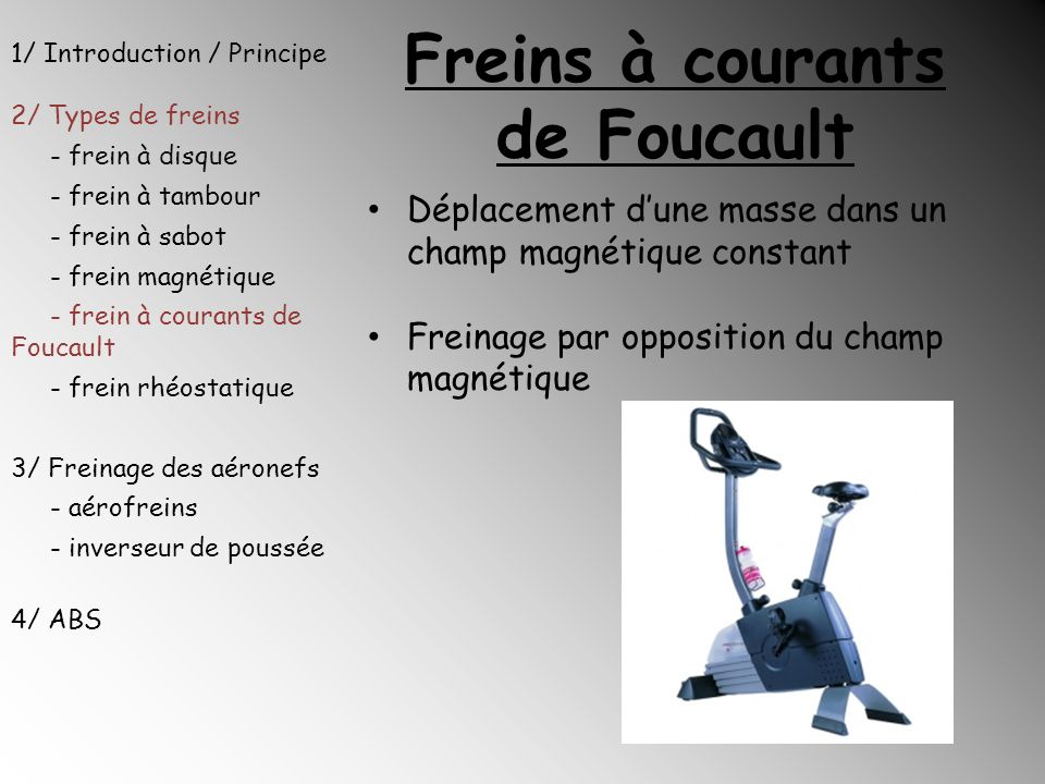 Freins à courants de Foucault