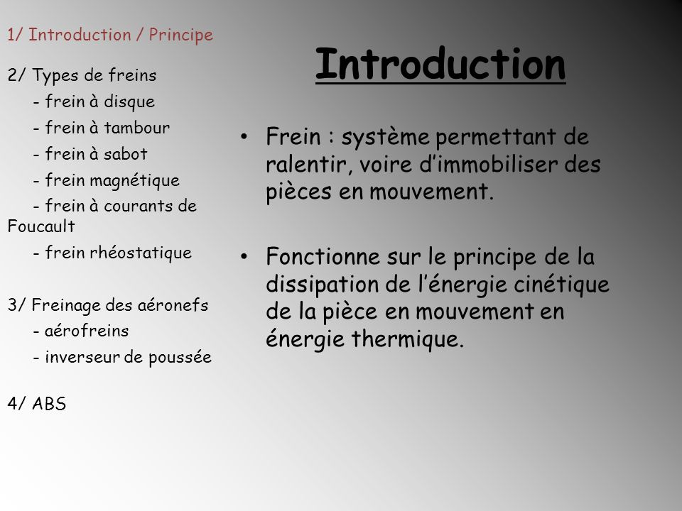 1/ Introduction / Principe