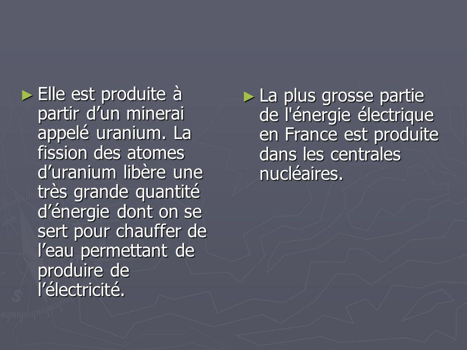 Elle est produite à partir d'un minerai appelé uranium