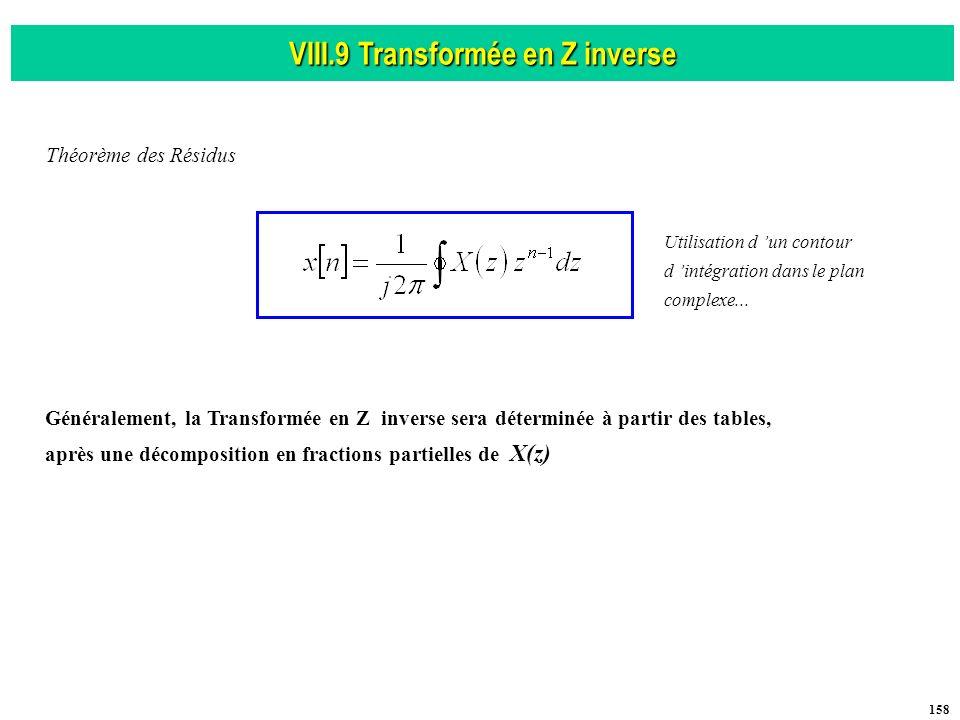 VIII.9 Transformée en Z inverse