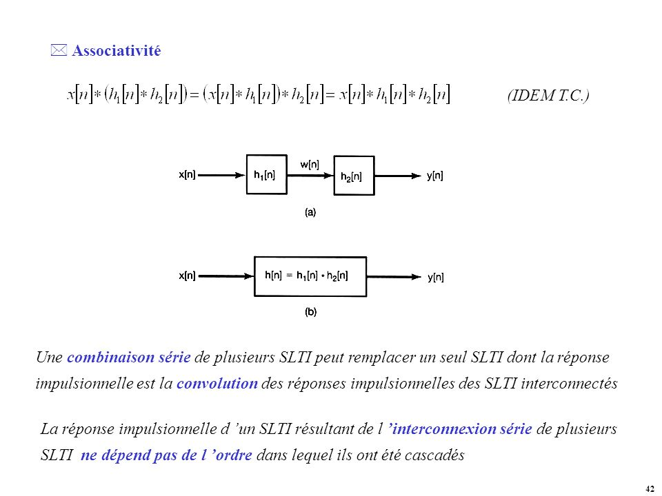 Associativité (IDEM T.C.)
