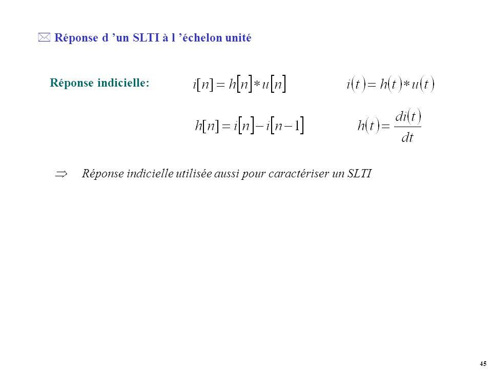 Réponse d 'un SLTI à l 'échelon unité