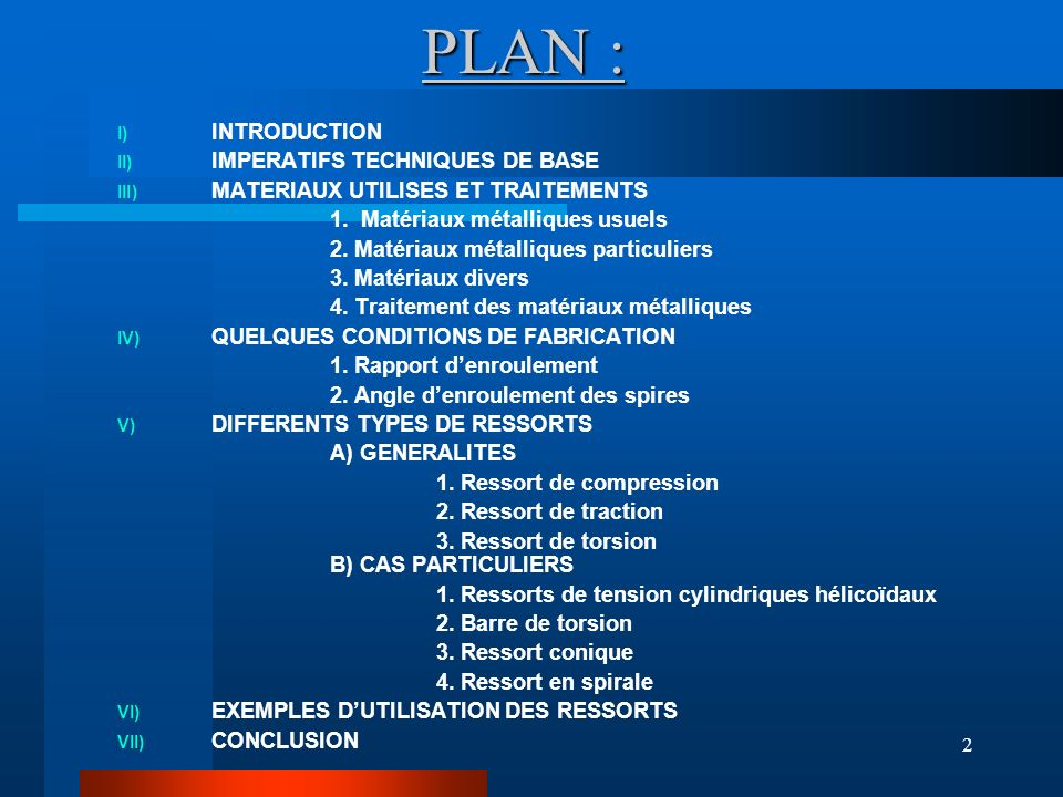 PLAN : INTRODUCTION IMPERATIFS TECHNIQUES DE BASE