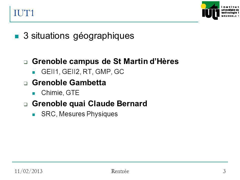 IUT1 3 situations géographiques Grenoble campus de St Martin d'Hères