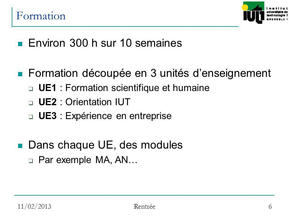 Formation Environ 300 h sur 10 semaines