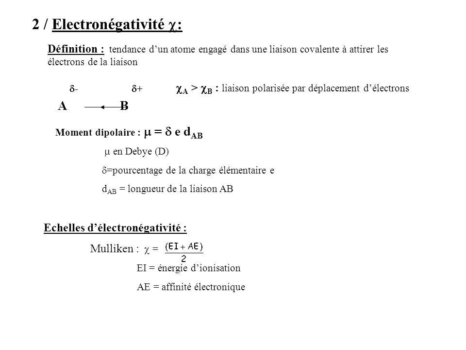 2 / Electronégativité c: