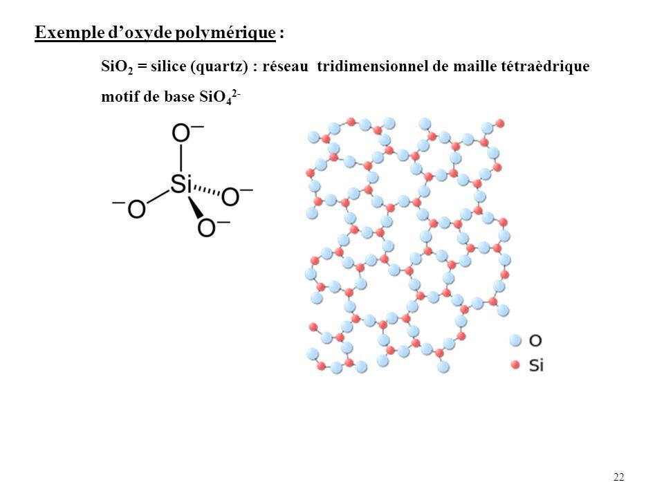 Exemple d'oxyde polymérique :