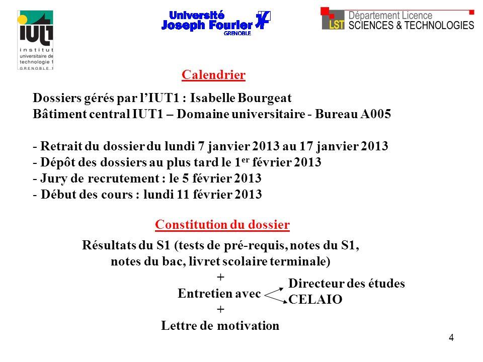 Dossiers gérés par l'IUT1 : Isabelle Bourgeat