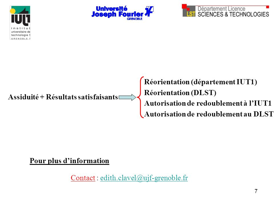 Réorientation (département IUT1)