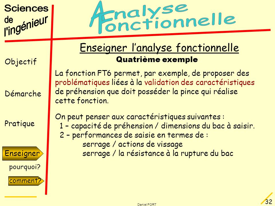 Enseigner l'analyse fonctionnelle