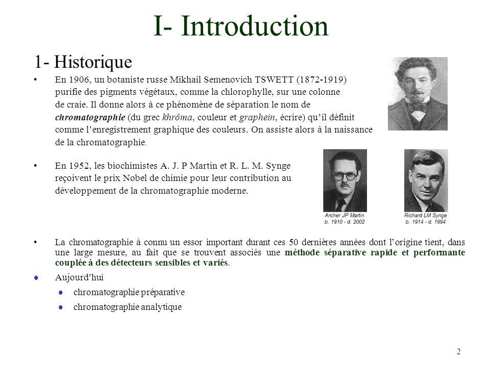 I- Introduction 1- Historique