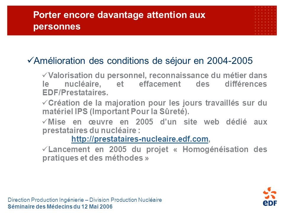 Porter encore davantage attention aux personnes