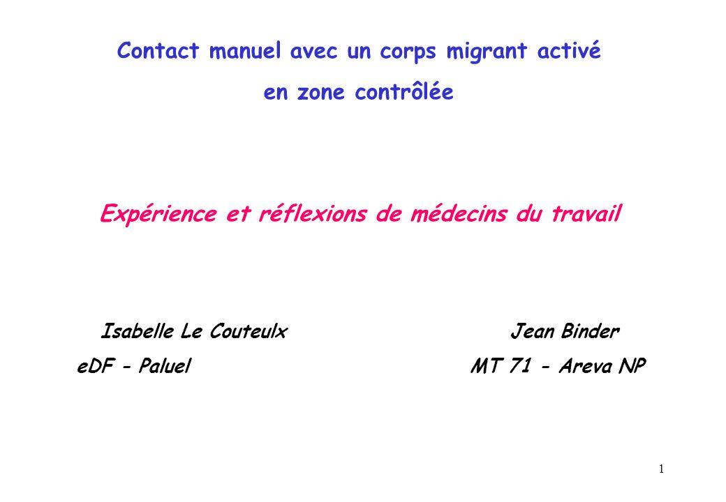 Contact manuel avec un corps migrant activé en zone contrôlée