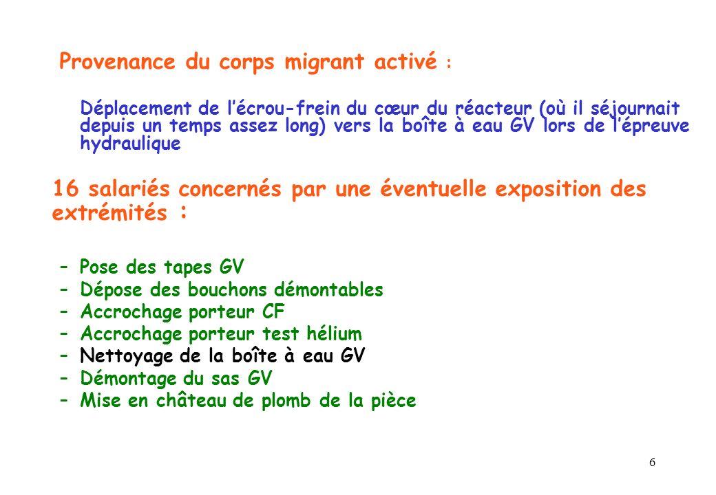 Provenance du corps migrant activé :