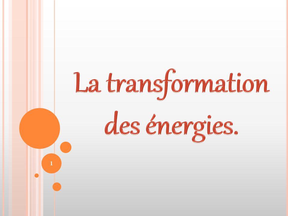 La transformation des énergies.