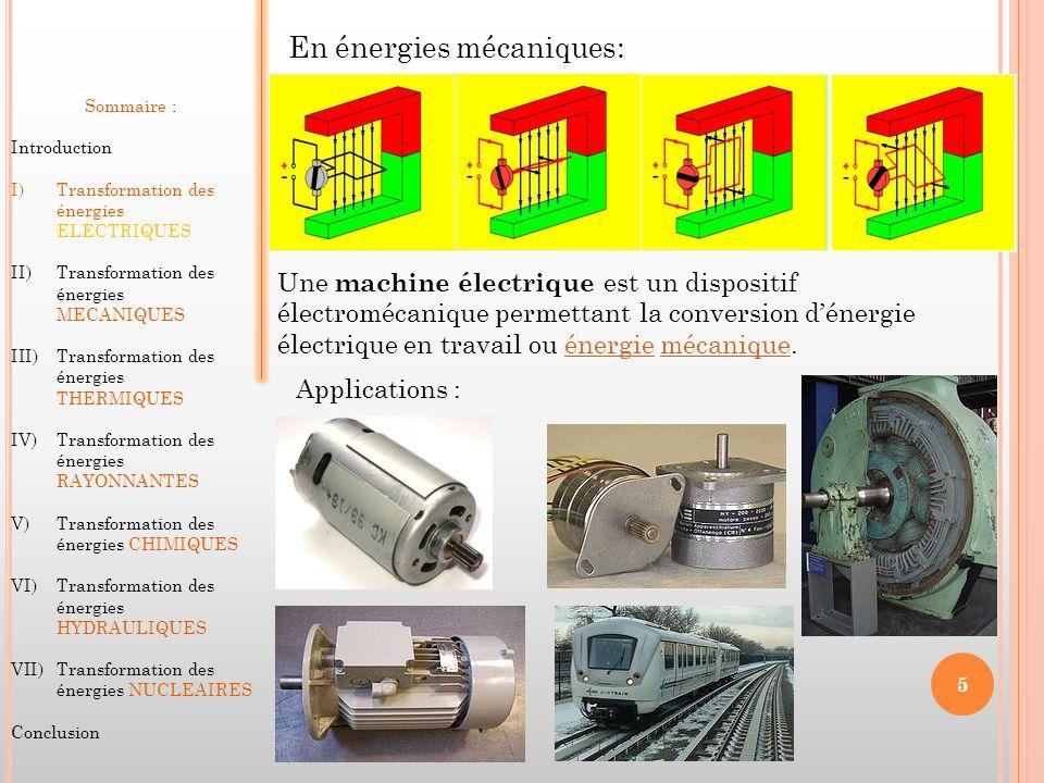 En énergies mécaniques:
