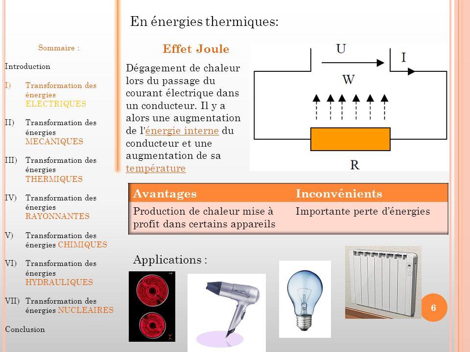 En énergies thermiques: