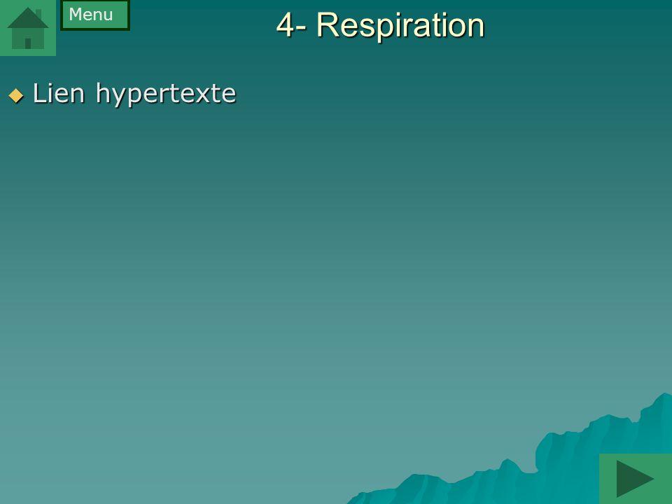 Menu 4- Respiration Lien hypertexte