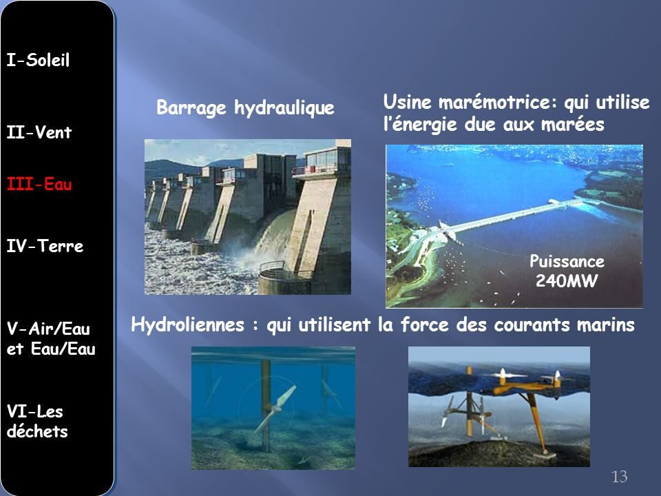 Usine marémotrice: qui utilise l'énergie due aux marées