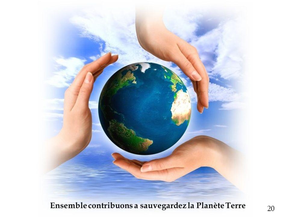 Ensemble contribuons a sauvegardez la Planète Terre