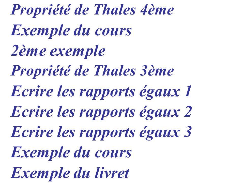Ecrire les rapports égaux 1 Ecrire les rapports égaux 2