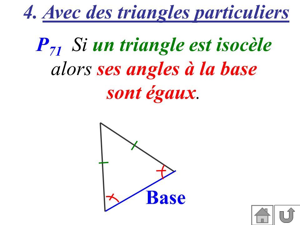 4. Avec des triangles particuliers