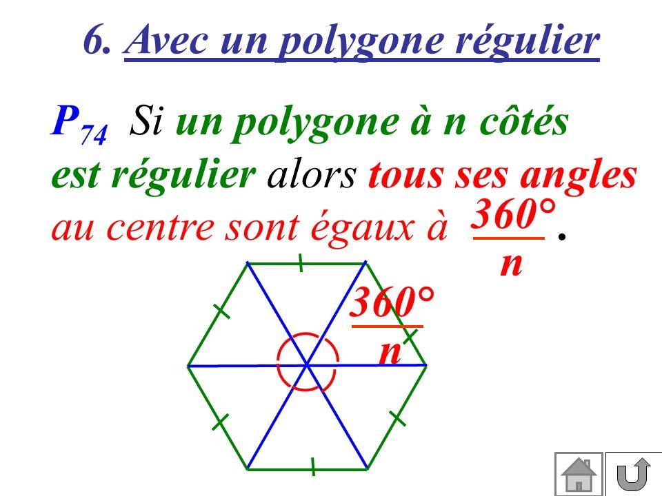 6. Avec un polygone régulier
