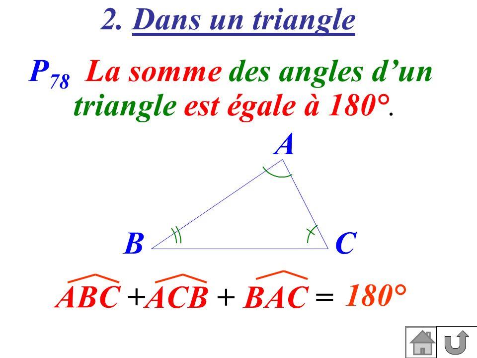 P78 La somme des angles d'un