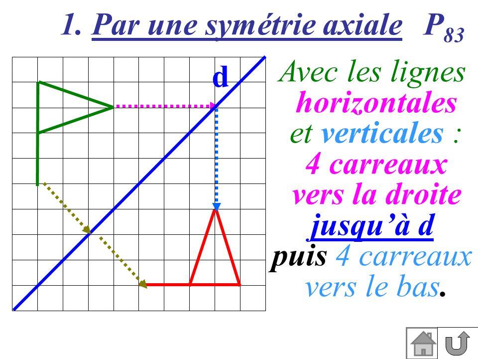 1. Par une symétrie axiale