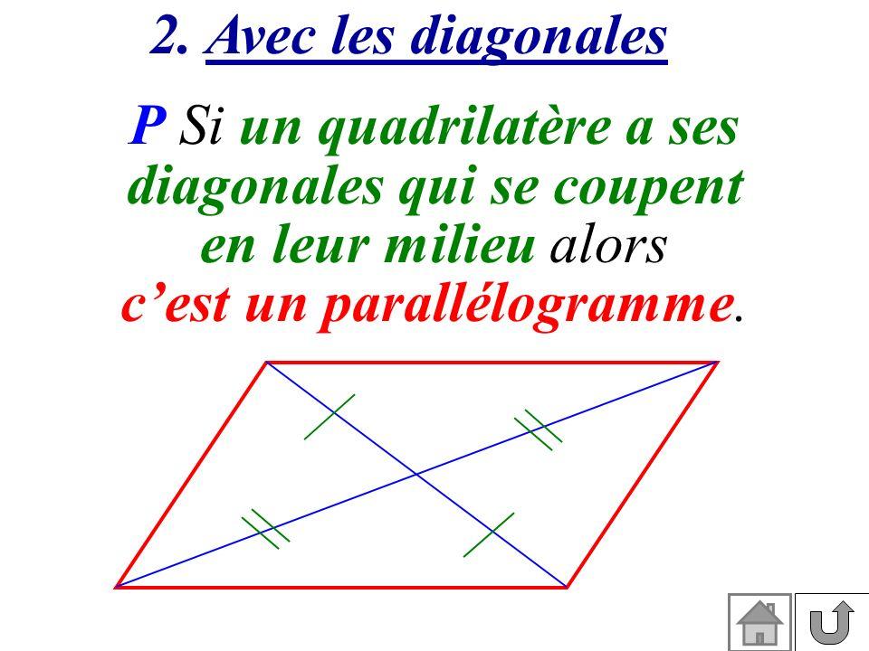 P Si un quadrilatère a ses diagonales qui se coupent
