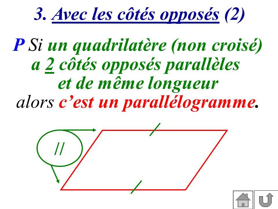 3. Avec les côtés opposés (2) a 2 côtés opposés parallèles
