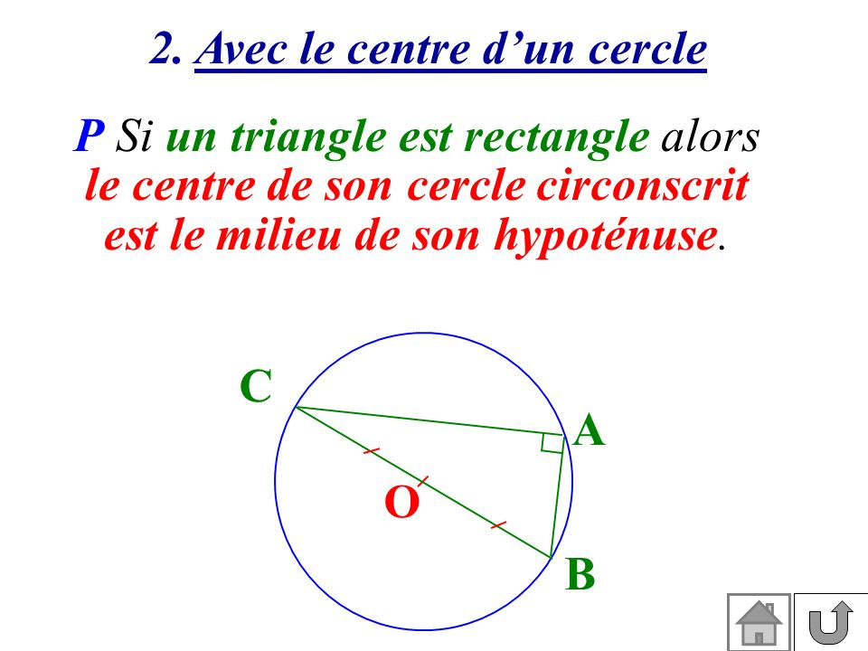 le centre de son cercle circonscrit