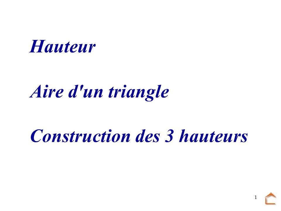 Construction des 3 hauteurs