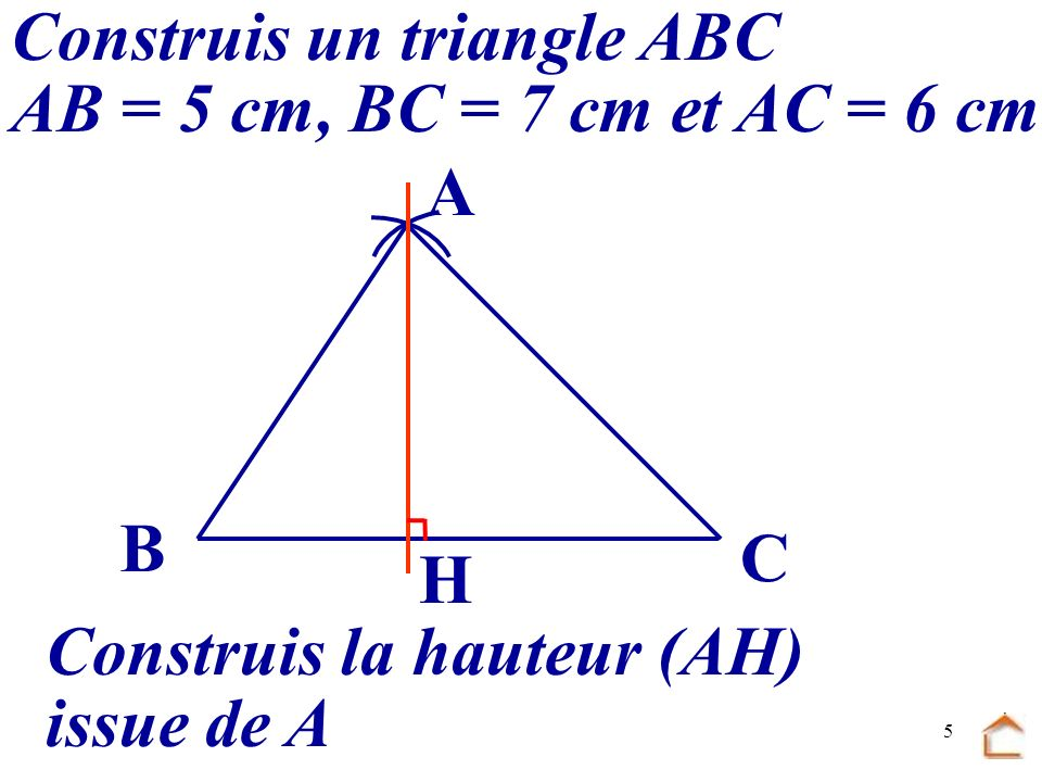 Construis un triangle ABC