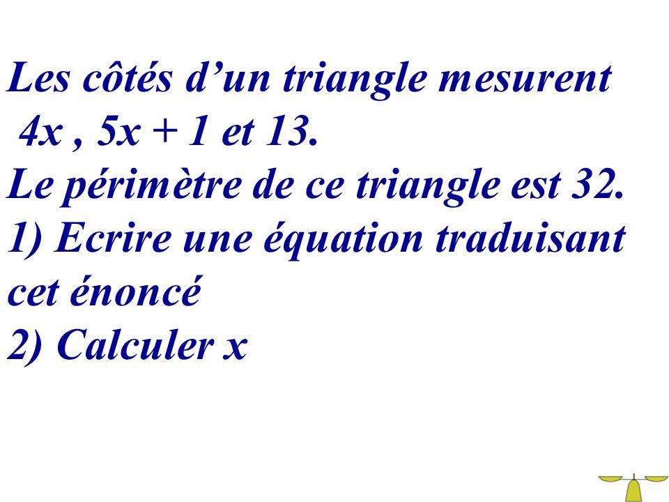 Les côtés d'un triangle mesurent