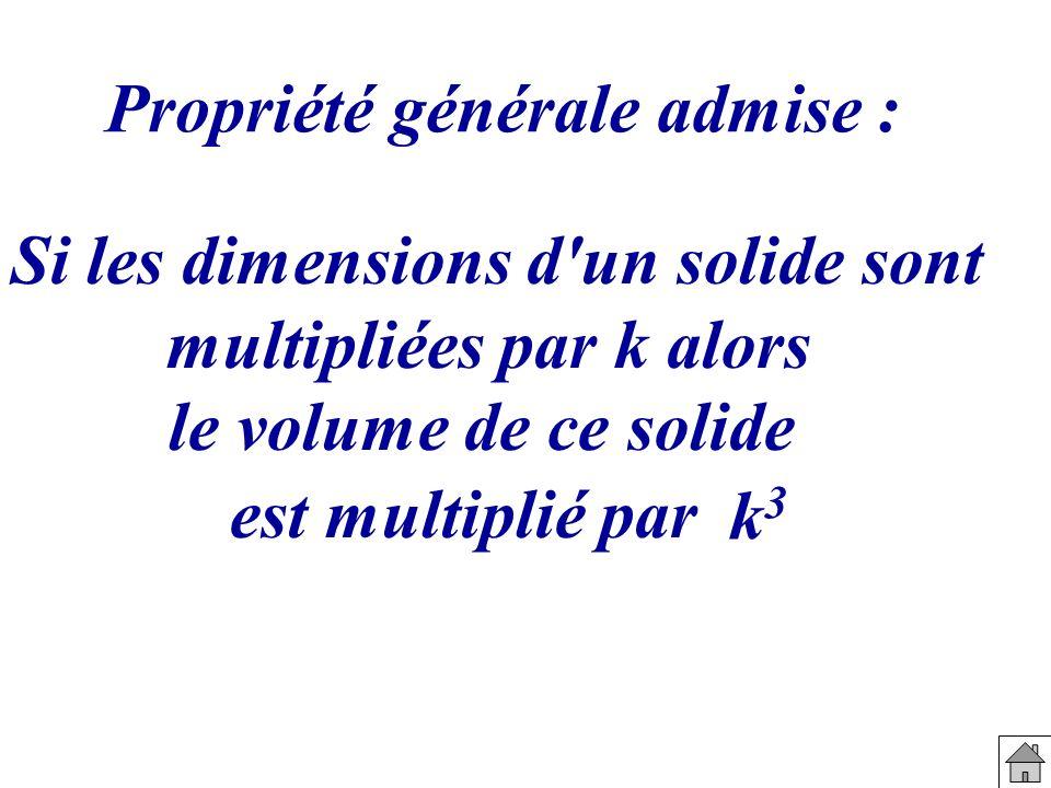 Si les dimensions d un solide sont multipliées par k alors