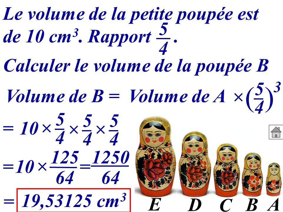Calculer le volume de la poupée B